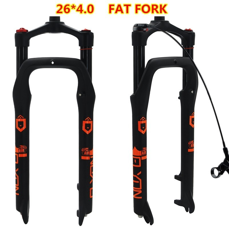 26inch Bike Bicycle Fork Aluminium Alloy Air Gas Line Locking Suspension Fat Forks Magnesium 4 0