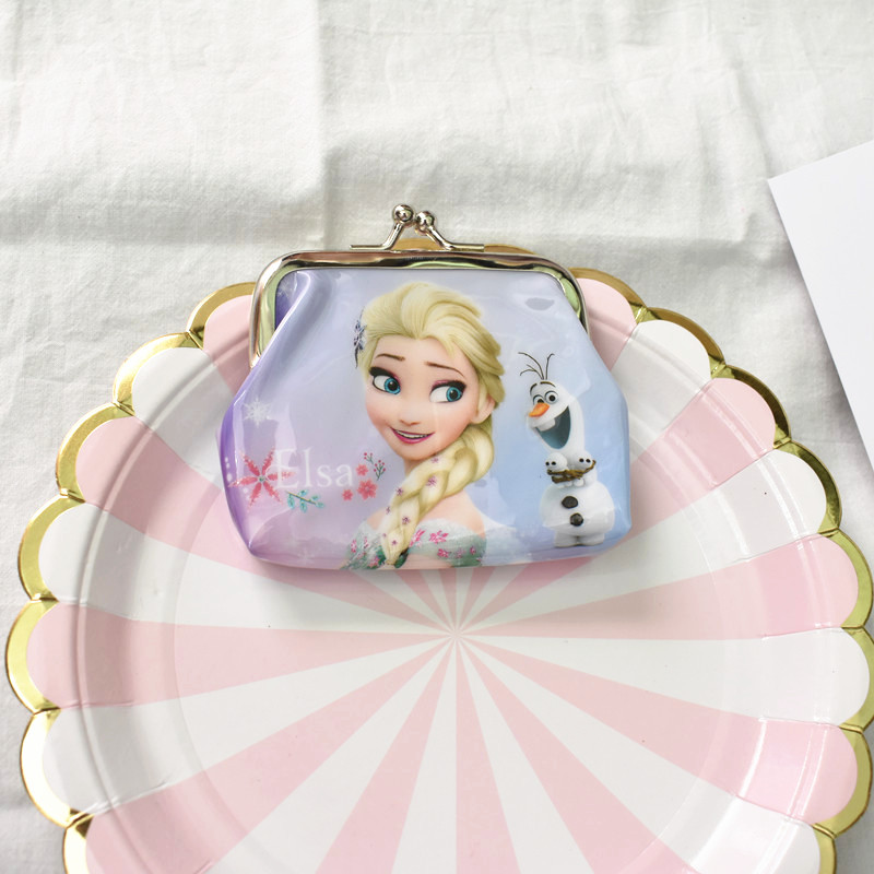 12pc 9 9cm Anna And Elsa Princess Mini Coin Purse Money Bag Party Favors Wallet Birthday Supplies Gift For Kids Boy In From Home