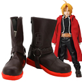 Anime Fullmetal Alchemist Edward Elric Cosplay Halloween Party Shoes Brown Boots Custom Made