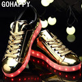 Colorful LED Shoes for Adults Men Unisex USB Charging Light up Glowing Casual Shoes Colorful Simulation Luminous Neon Basket