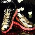 LED colorido Sapatos para Homens Adultos Unisex Carregamento USB Light up Glowing Sapatos Casuais Colorido Simulação Luminosa Neon Cesta