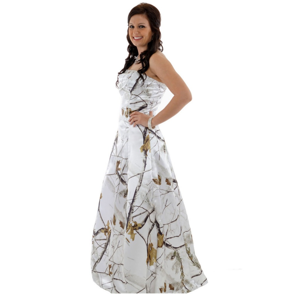 realtree white camouflage prom dresses 2018 long vestido de festa longo camouflage  party dresses free shipping-in Dresses from Women s Clothing on ... d05ad4b0413b