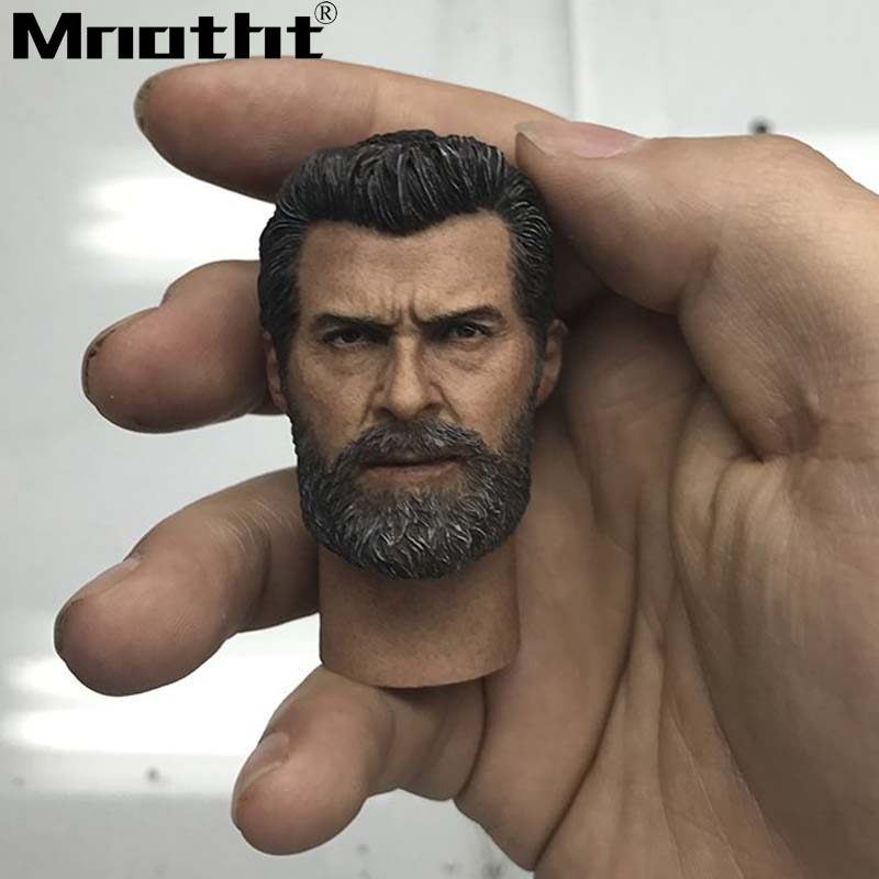 1/6 Scale Wolverine 3.0 Old Hugh Jackman Head Sculpt Neckless/Neck Head Carving Model Toys m3