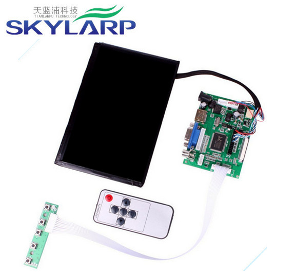 "Skylarpu 7""inch LCD display High Resolution 1280*800 IPS Screen With Remote Driver Control Board 2AV HDMI VGA For Raspberry Pi"