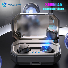 Get more info on the TEAMYO Wireless Bluetooth Headset Touch Mini 5.0 Sports Earphones Wireless HIFI Sound Binaural Waterproof 3000mah Charging Box