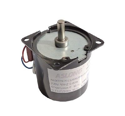 220v 14w AC synchronous  counter rotating Gear motor 60rpm