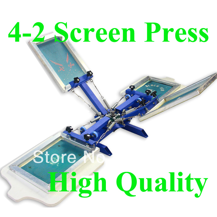 FAST and FREE shipping discount 4 color 2 station silk screen printing machine t-shirt printer press equipment carousel мужская одежда для спорта