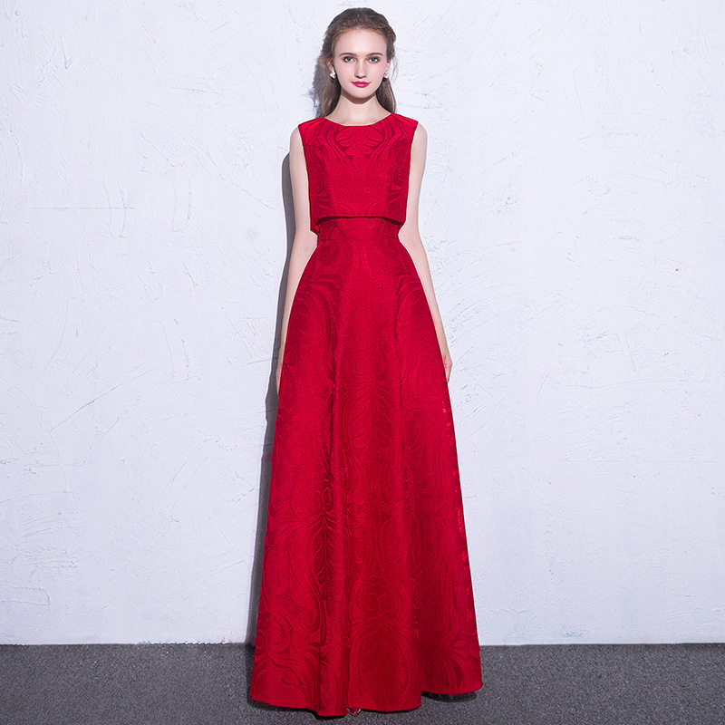 It s Yiiya Sex Two Pieces Elegant Zipper Lace Ball Gown Evening Dress Floor  Length Party Gown 730f8387b9ed