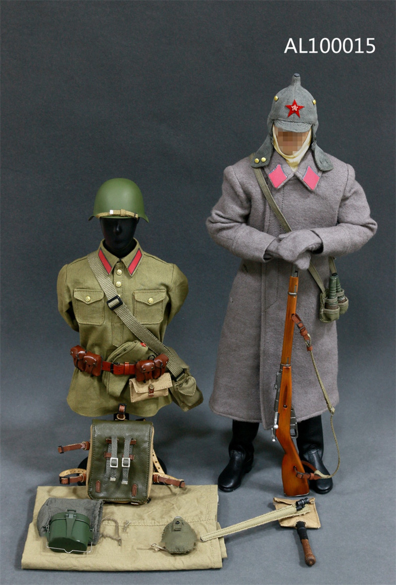 1/6 WWII Soviet Red Army Infantry Equipment Set Soldier Clothes Set For 12 Inches Action Figures world war ii german wwii wehrmacht officer 1 6 soldier set model stanford erich vo gm637 for gift collection