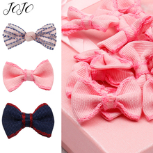 JOJO BOWS 5pcs DIY Craft Supplies Grosgrain Ribbon Bows For Wedding Party Decoration Handmade Clothes Materials Hair Accessories
