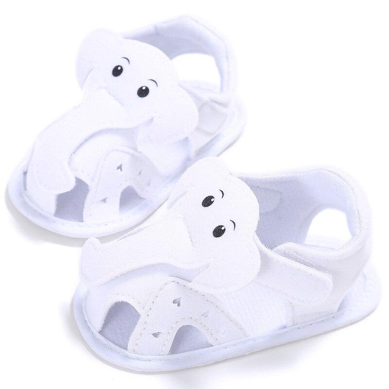 2017 Summer Baby Boy Sandals Cute Elephant Flats Soft Bottom Newbron Boys Shoes Toddler Boys Shoe With Light YD213