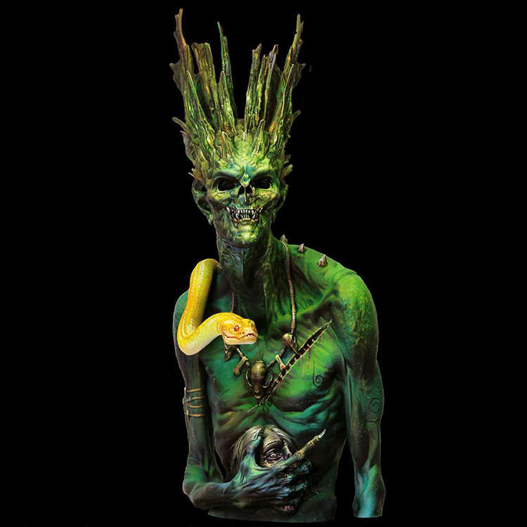 1/10 Ydrasil, Смола Модель бюст GK, научная фантастика тема, разобранный и Неокрашенный комплект