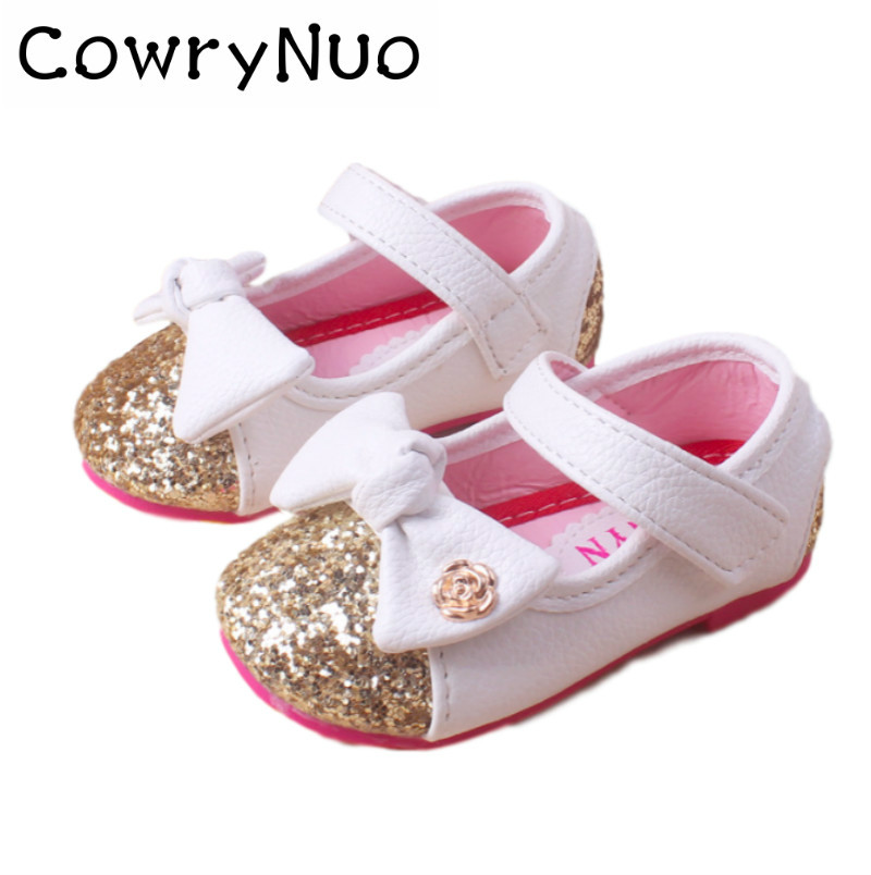 d769f7846 Baby Girls leather shoes Princess butterfly-knot soft Toddlers Kids casual  Shoe Summer Cute Girl Shoes Kids Toddler Sandals
