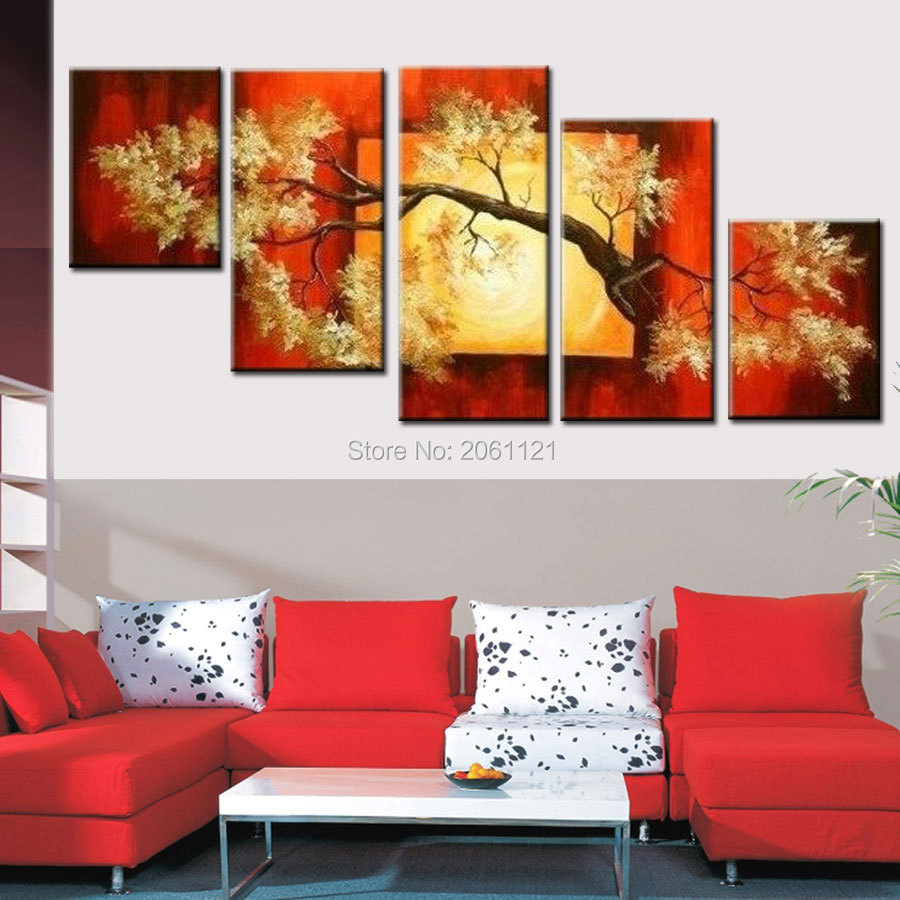 modern irregular wall painting abstrat tree canvas picture hand painted decorative oil painting sofa wall decorative painting in Painting Calligraphy from Home Garden