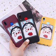 For Huawei Honor Mate 10 20 Nova P20 P30 P Smart I AM COOL Girl Memes Candy Silicone Phone Case Cover Capa Fundas Coque(China)