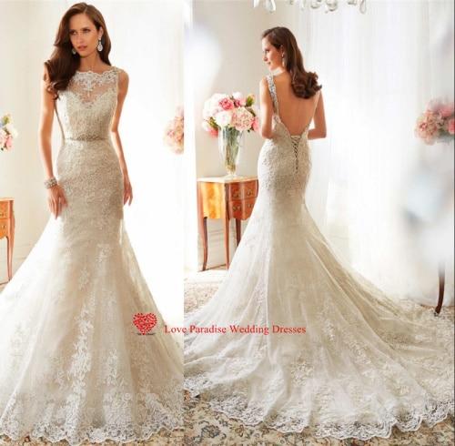 Backless Mermaid Wedding Dresses 2015