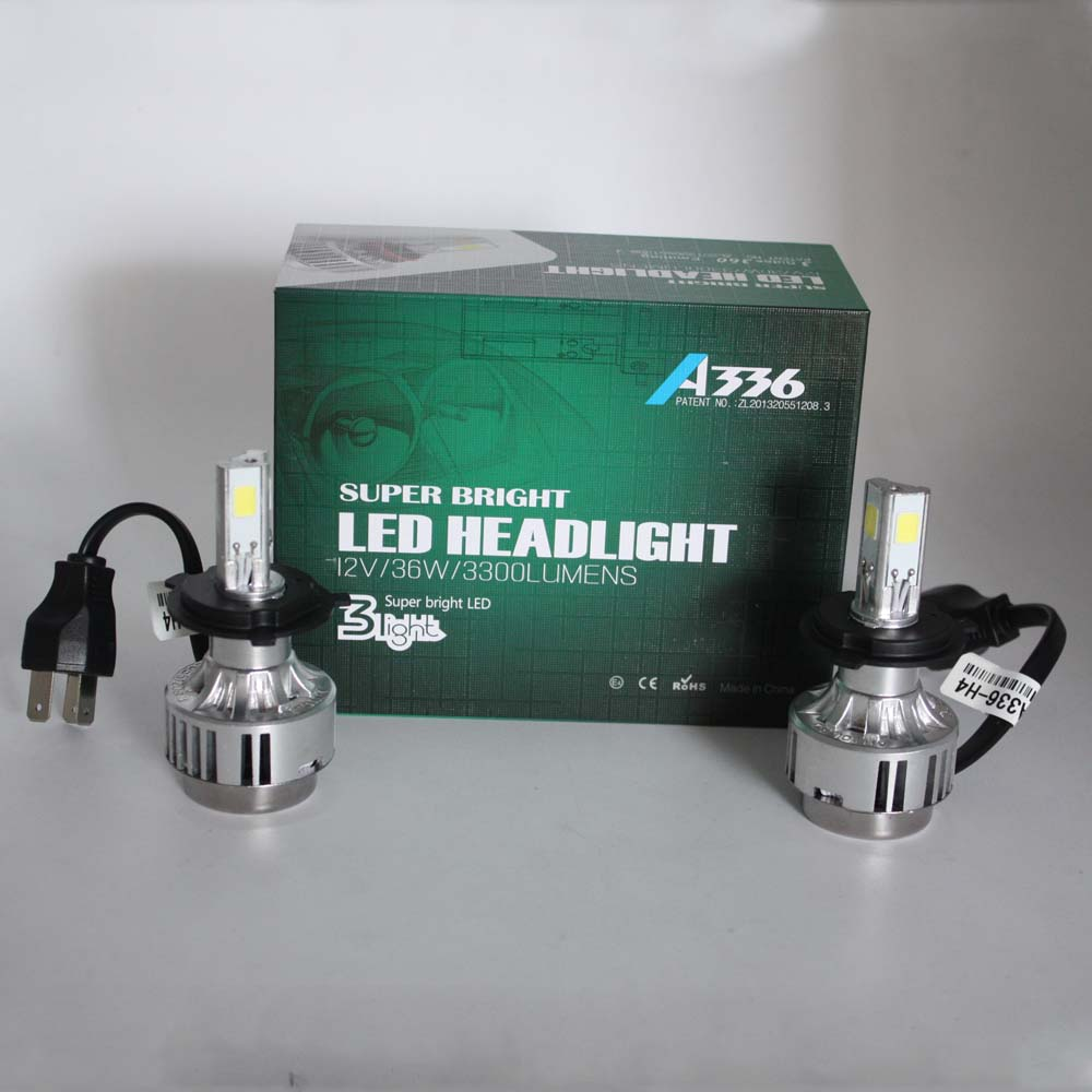 XIANGSHANG High Power Hi/Lo H4 Car LED Headlight 36W 3300LM Motorcycle Bulb Headlamp High Low Conversion kit Beam Driving