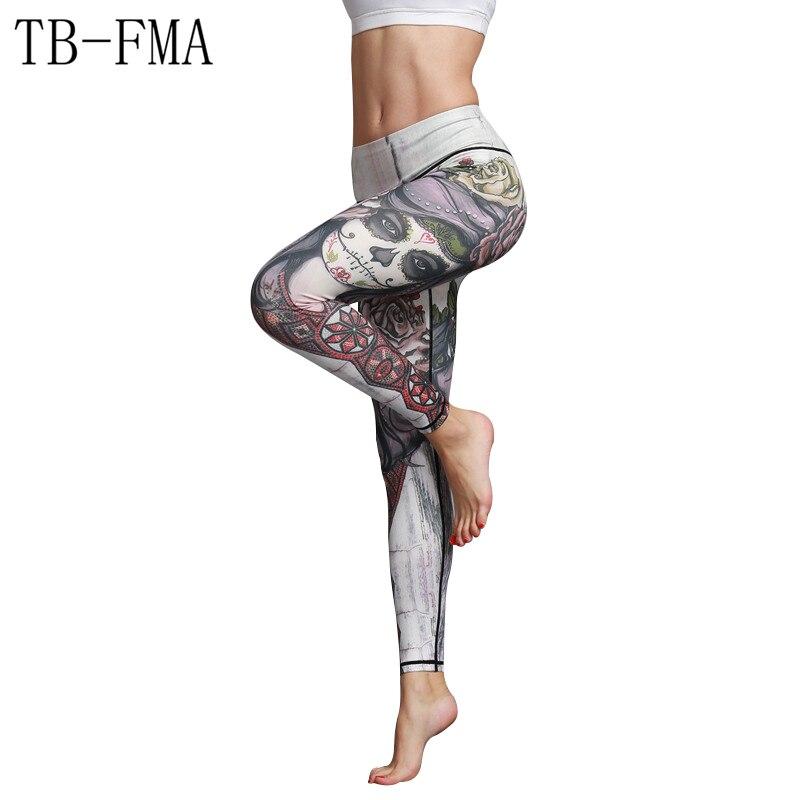 Print Yoga Pants leggings women fitness leggings Running pants for yoga pants Spandex Tights breathable Super elasticity pants