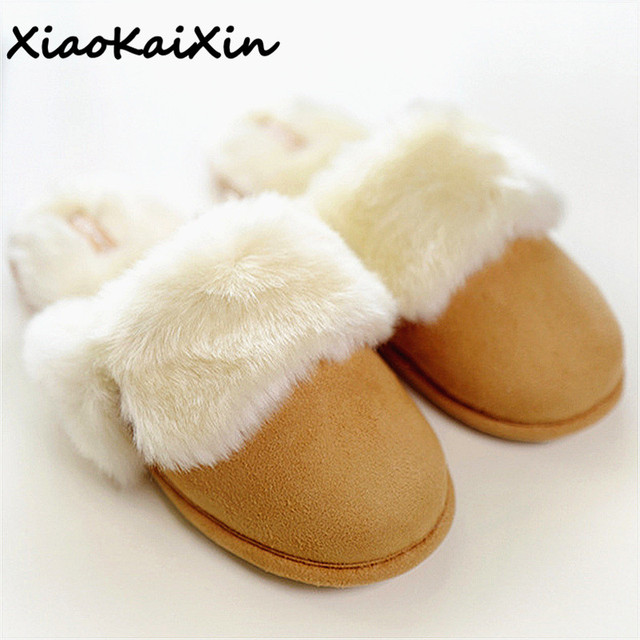 Winter Retro Style Womens House Slippers Warm Faux Wool Suede Indoor Home  Shoes Woman Solid Pink Grey Khaki Flats Female Slides e3e76f3f04d3