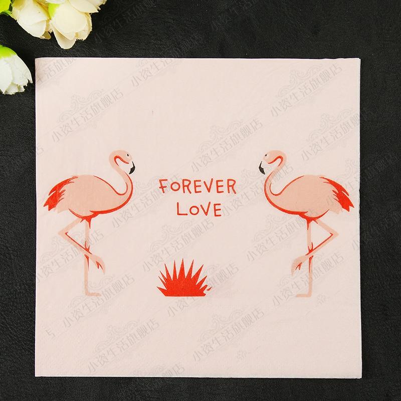 New Lovely Pink Flamingo Paper Napkins Cafe&Party Tissue Napkins Decoupage Decoration Paper 33cm*33cm 20pcs/pack/lot
