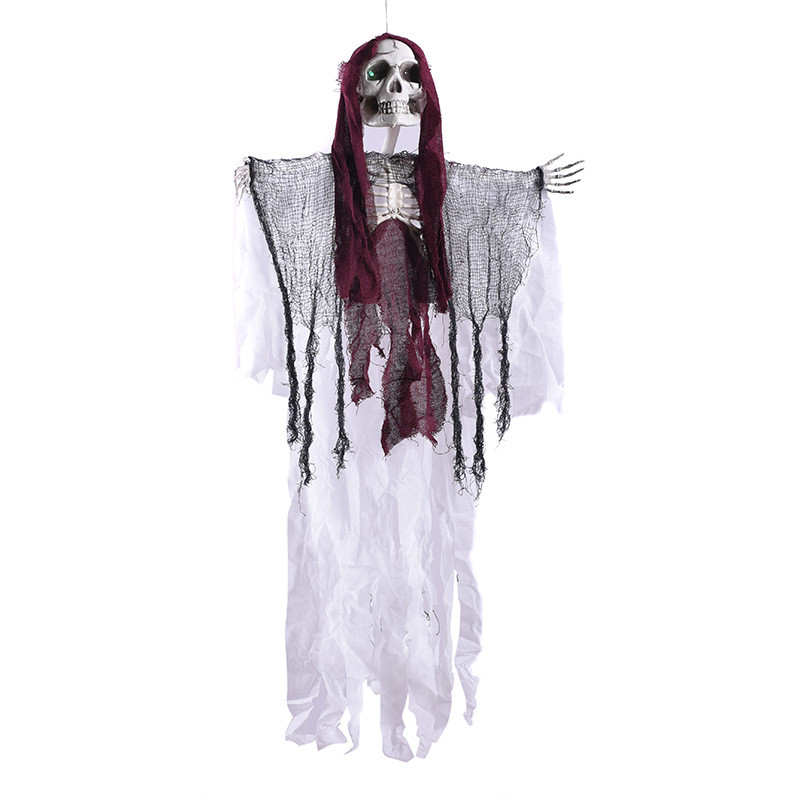 Halloween Hanging Decoration Voice Control Ghost Party Decoration Electric Ghost Luminous Skull Home Decoration Accessories