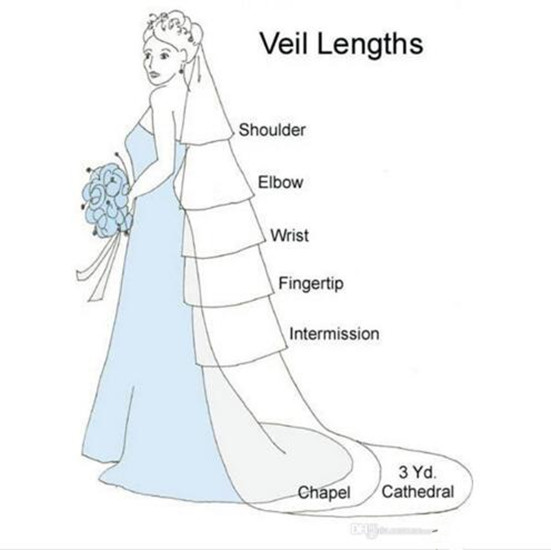 1 Layer Long Wedding Veil Appliques Edge Ivory White Bridal Lace Veils Wedding Accessories New Arrival with Comb