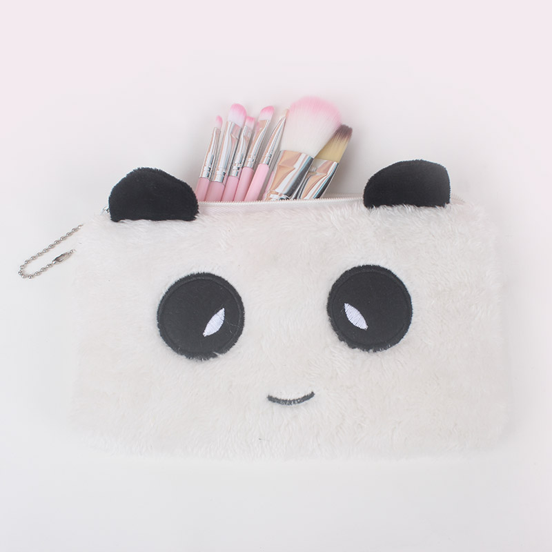 YIYOHI New Portable Canvas Panda Cosmetic Bag Travel Toiletry Wash Makeup Storage Bags Organizer Make Up Case For Women brand new storage portable travel soft carrying case bag for jbl xtreme wireless bluetooth speaker