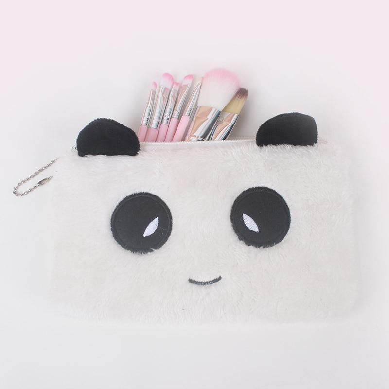 YIYOHI New Portable Canvas Panda Cosmetic Bag Travel Toiletry Wash Makeup Storage Bags Organizer Make Up Case For Women