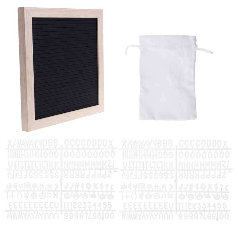 Punctual Felt Message Board Decor Board Frame White Letters Symbols Number Characters Bag
