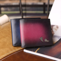 2018 hot Famous popular Leather Genuine Men Wallet Zipper Coin Pocket Short Vintage Men's Wallet Portfolio Male Clutch Purse