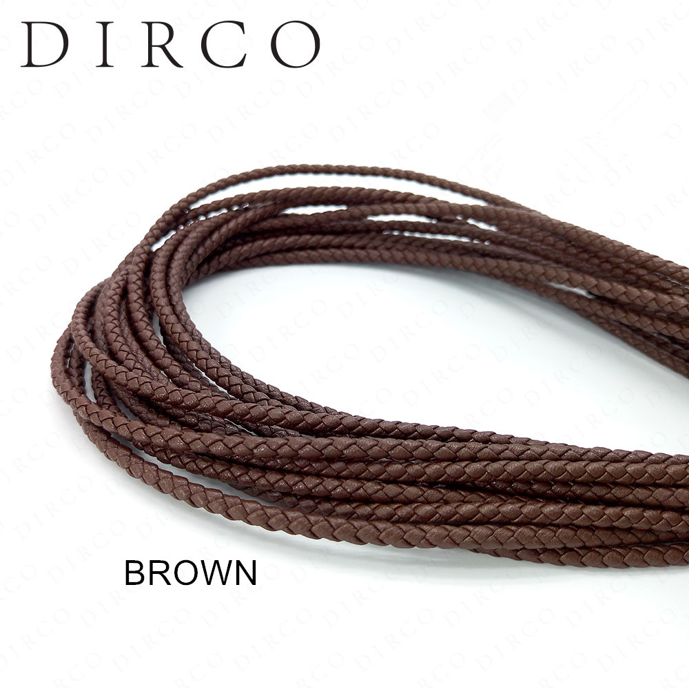 A propos de l'ajustement 3mm 30 mètres cordon en cuir véritable tressé en cuir pour la fabrication de bijoux cadeau corde tissée en cuir de vache Nappa accessoires
