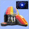 New Inflatable Disco Dome, Commercial Disco Dome with Slide,Free Disco Ball Included