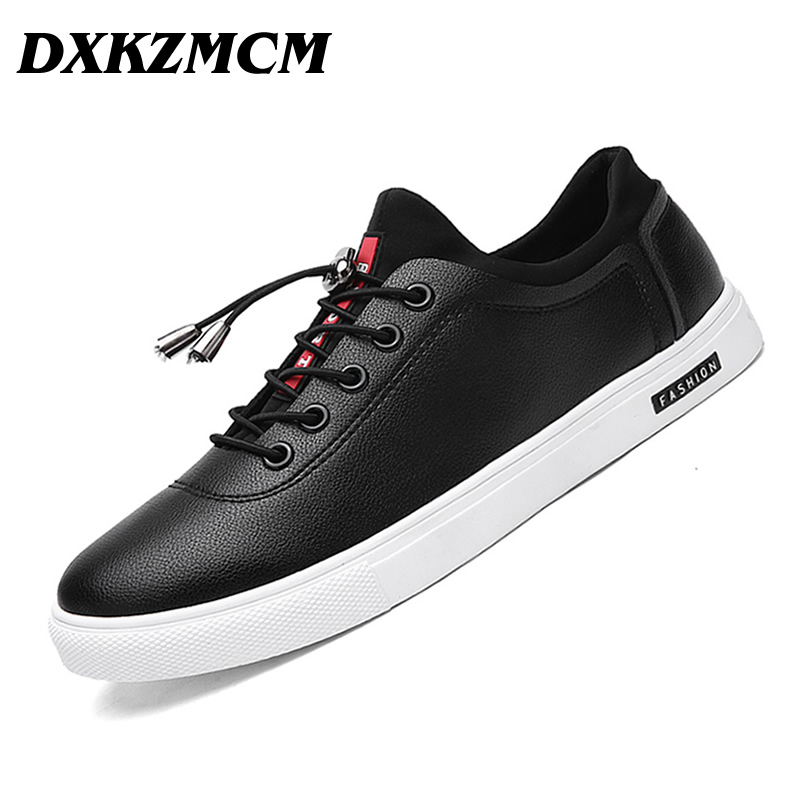 DXKZMCM Men Casual Shoes handmade Breathable comfortable Men Flats brand men shoes rotosound rs66lc bass strings stainless steel