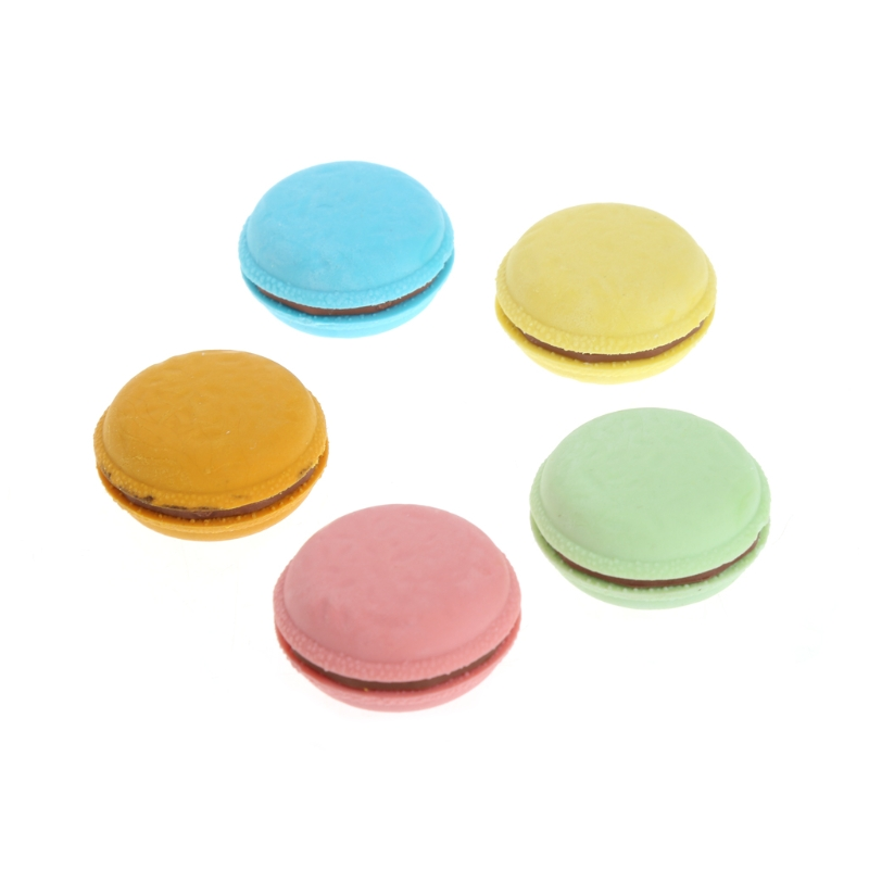 5Pcs Colorful Macaron Shape Eraser School Office Stationery Supplies Gift Decor W30