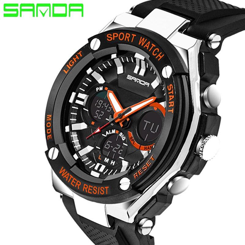 2019 Neue Sanda Männer Sport Uhren Military Stil Uhr Silikon Band Digitale Uhren Display Uhren Relogios Masculinos Halten Sie Die Ganze Zeit Fit Uhren
