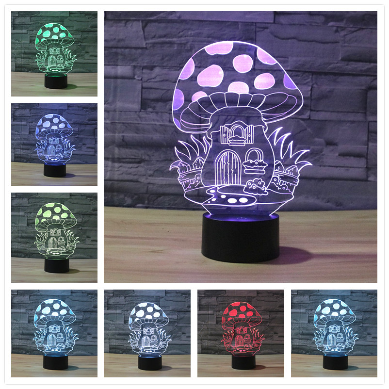 Leopard 3D lamp Touch Control Night 7 Colors Change LED Desk Table Light Lamp Power Bank Led Night Light