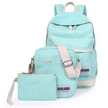 Для женщин рюкзак для подростков Обувь для девочек женские школьный рюкзак Mochila изображение костюм из 3 предметов Сумка Школьные сумки