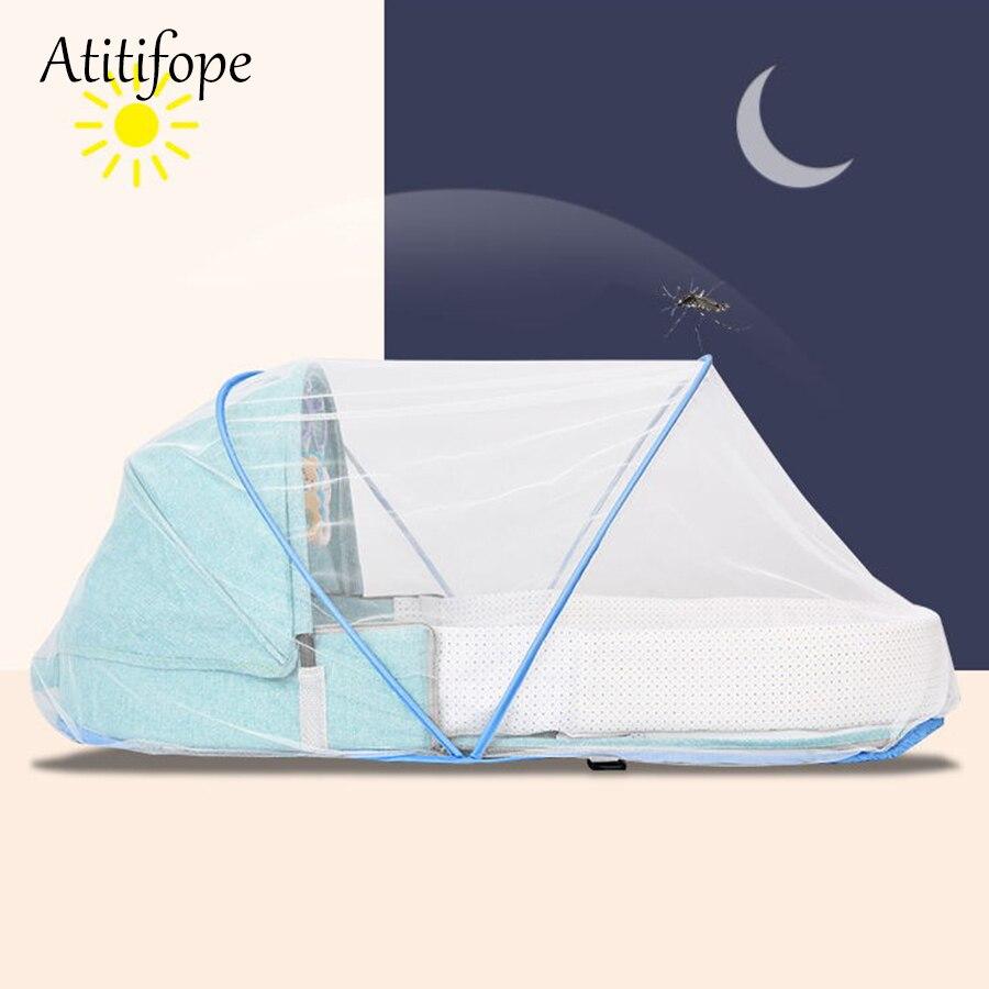 Lit bébé Portable multi-fonction berceau mode momie sac voyage bébé cirb avec parasol et couverture de moustique - 3