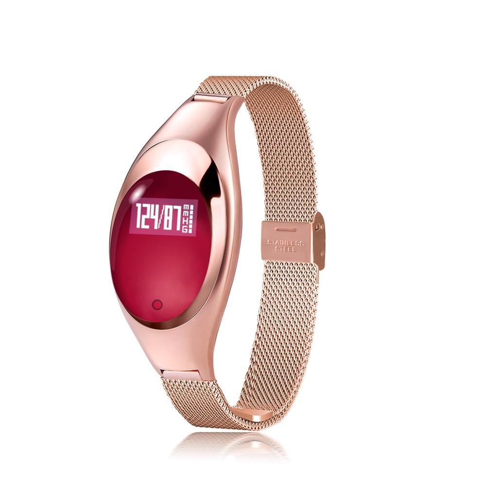 Z18 BT Smart Montre Femmes Dames Montres Horloge LED Numérique Smartwatch Métal Montre-Bracelet Sport Bracelet reloj deportivo mujer