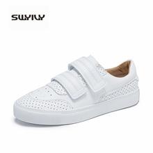 SWYIVY Shoes Woman Sneaker 2019 Autumn Platform Sneakers Women White Shoes Female Sneakers Casual Shoe Women Sneaker Hook&loop