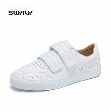SWYIVY chaussures femme Sneaker 2019 automne plate forme baskets femmes blanc chaussures femme baskets chaussures décontractées femmes Sneaker crochet & boucle