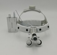 NEW Good Quality 2.5X times enlarge easy wearing surgery operation surgical Magnifier Dental Loupe with LED light