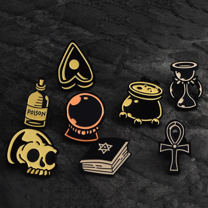 Ace Skull Ribbon Bow Lapel Pin Badge Pin Xy0066 At Any Cost Home & Garden Apparel Sewing & Fabric