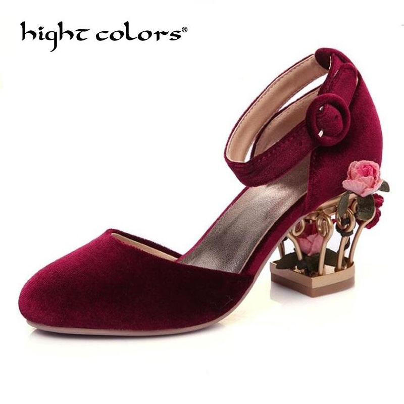 New Fashion superstar brand summer shoes ankle strap round toe Bird cage heel women pumps gradiator high heels casual shoes brand fashion beading crystal solid gladiator pumps thick high heel round toe velvet bird cage party women wedding shoes l0f1