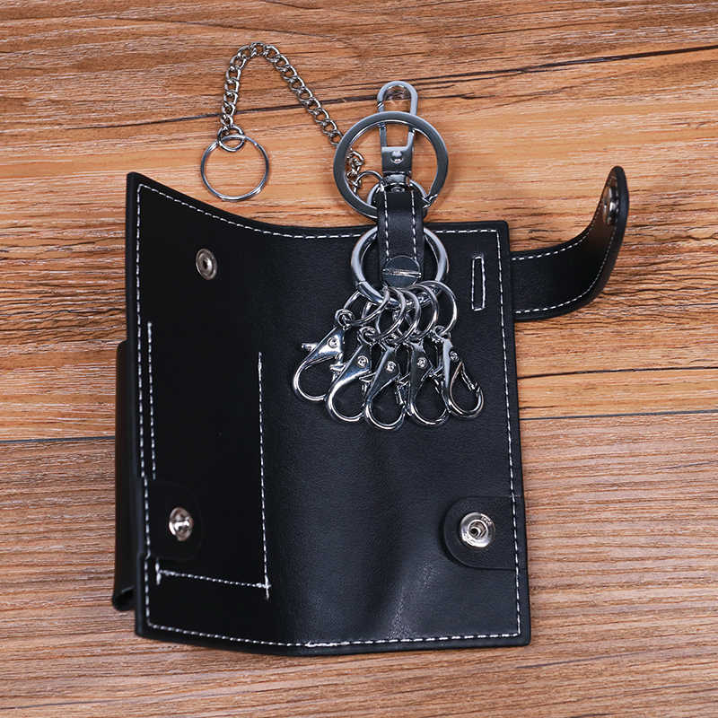 SIMLINE мужской кошелек из натуральной кожи для ключей из воловьей кожи, автомобильный держатель для ключей, сумка, органайзер, ключница, кольцо, Мужская крышка