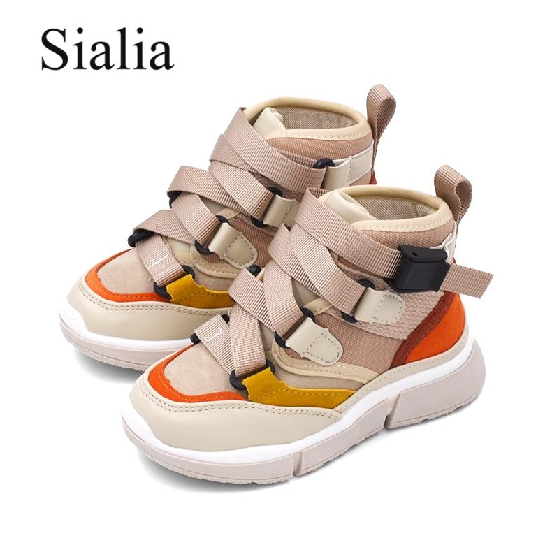 Sialia Winter Autumn Girls Sneakers For Boys Casual <font><b>Shoes</b></font> Children's Sneakers Kids <font><b>Shoes</b></font> High-toe School Female zapatillas <font><b>nina</b></font>