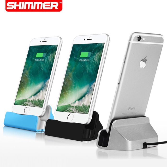 SHIMMER Sync Data USB Cable Charger Dock Stand Station Cradle Charging Dock Station For Apple iPhone 7 SE 5 5S 5C 6 6S Plus