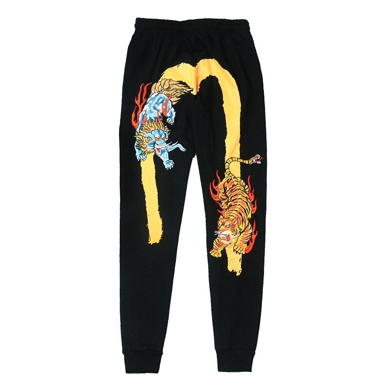 2018 Evisu осенние и зимние брюки мужские свободные Модные Длинные повседневные мужские джинсы байкерские прямые с принтом Длинные мужские джи