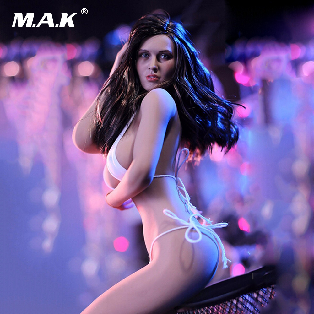 1/6 PLLB2014-S09 Super Flexible Female Seamless Body Head Tan Color 12 Action Figure Dolls Collections 1 6 scale male action figure model toys super flexible seamless muscle body pl2016 m33 for collections