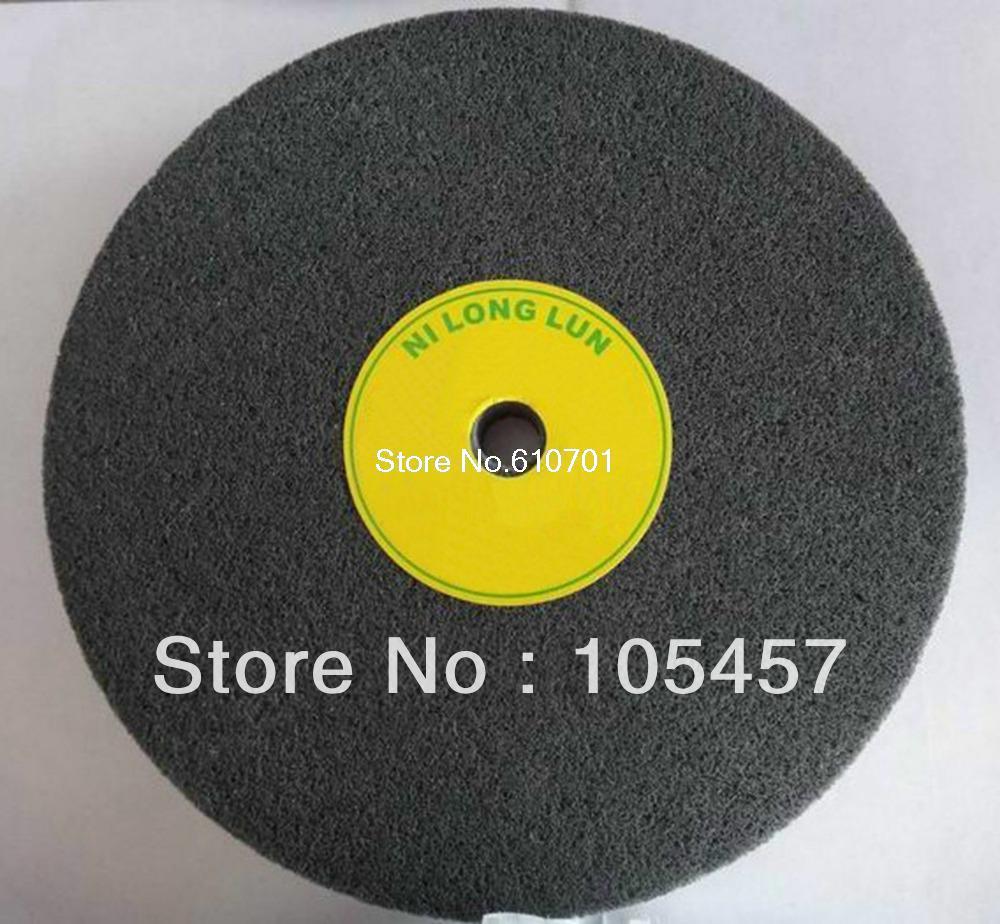 Dark Grey 7P Fiber Polishing Buffing Wheel 180# Grit Nylon Abrasive (200*50)mm fiber polishing buffing wheel grit nylon abrasive 25mm thickness 7p hardness 32mm id